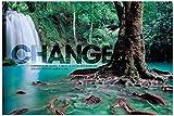 Successories Change Forest Falls Wood Mounted Motivational Art, 16'' X 24''
