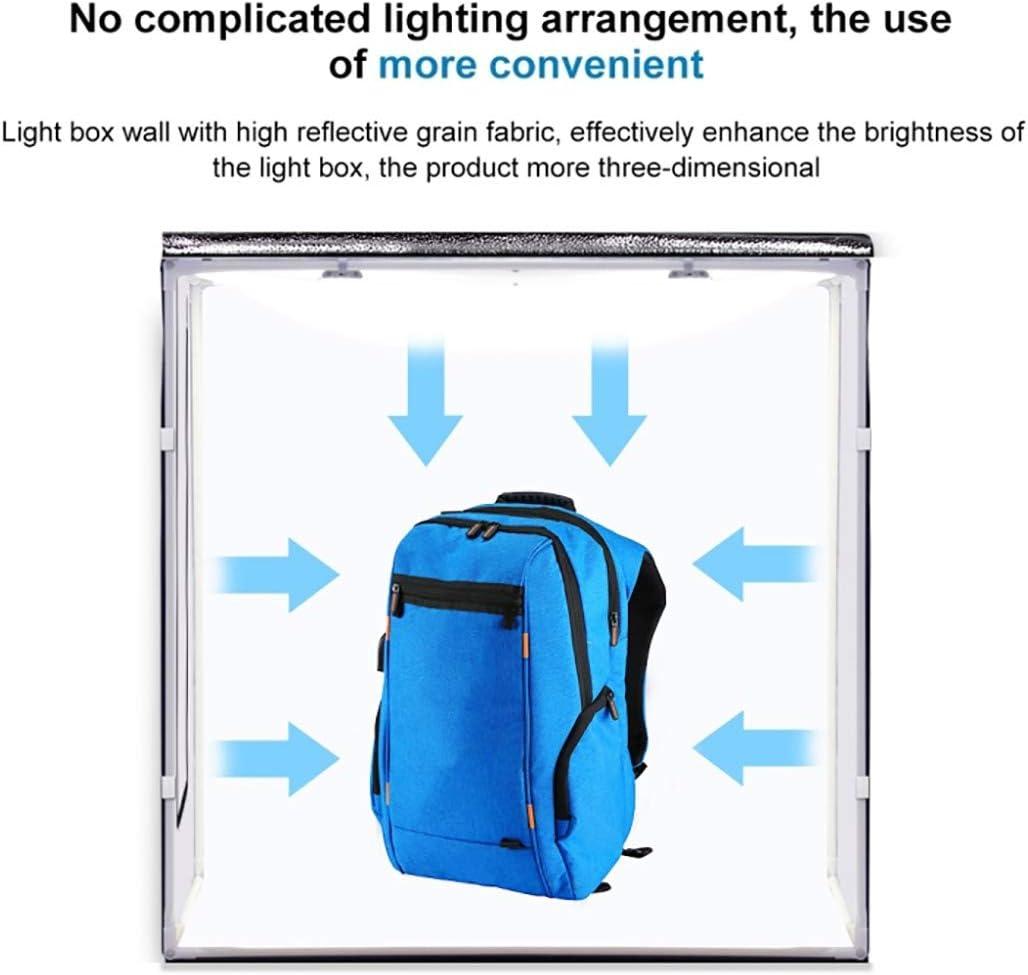 Black, White, Orange HWENJ 80cm Folding Portable 80W 8500LM White Light Photo Lighting Studio Shooting Tent Box Kit with 3 Colors Backdrops