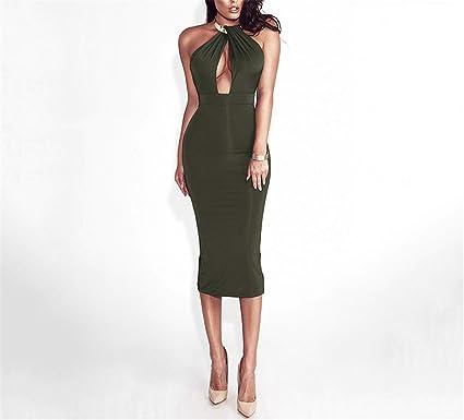 e684043b88c3 Hollow Out Party Bodycon Bandage Dress Women Off Shoulder Choker Long  Pencil Dress Sexy Backless Split