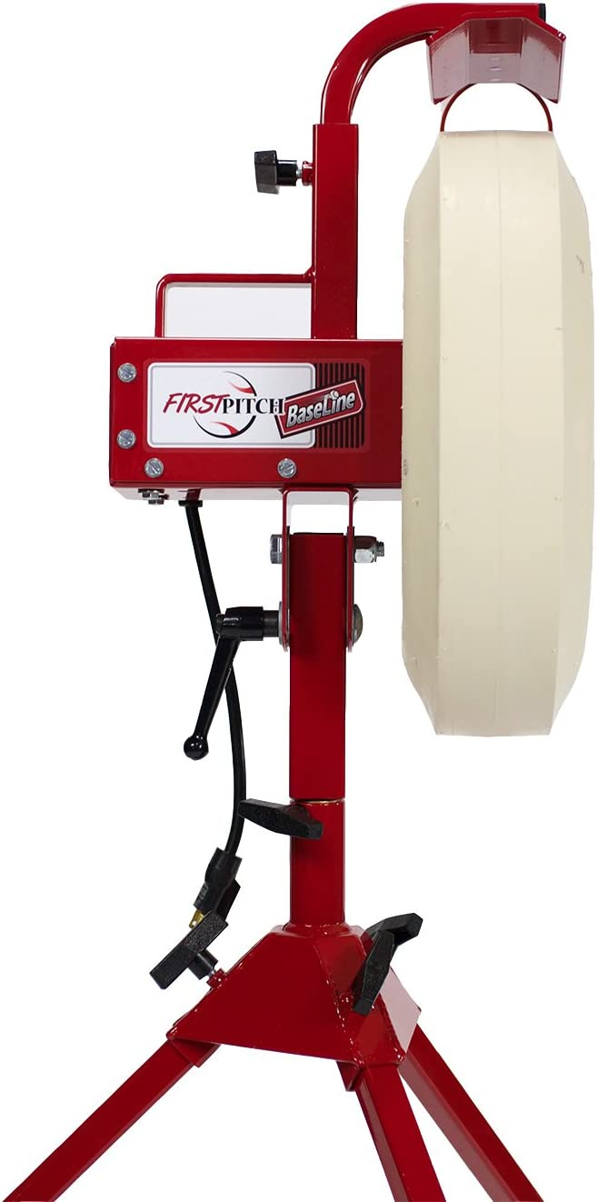 First Pitch Baseline Pitching Machine : Sports & Outdoors