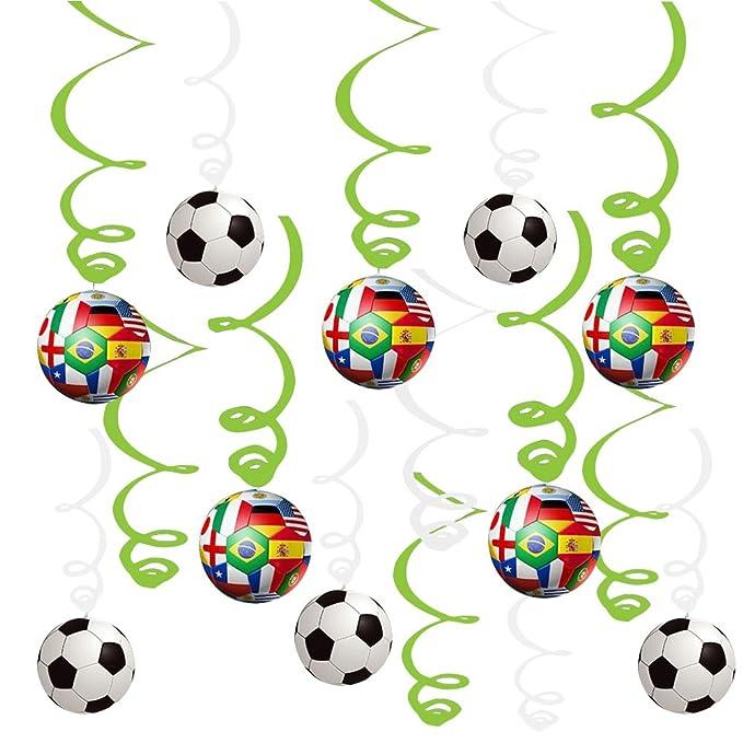 YeahiBaby Decoraciones Colgante de Fútbol para Fiesta de ...