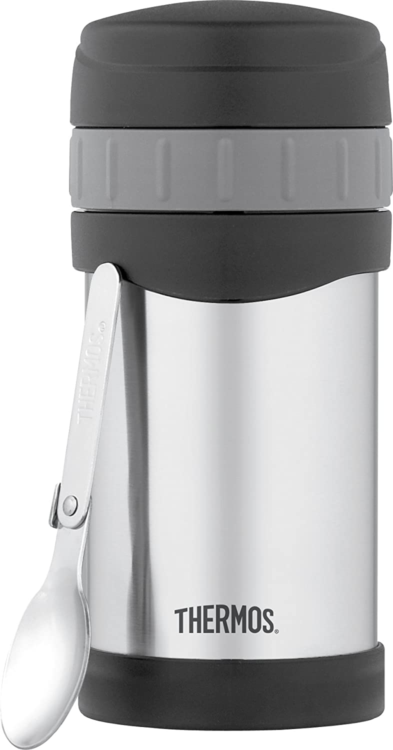 Thermos 16 Ounce Vacuum Insulated Stainless Steel Food Jar with Folding Spoon