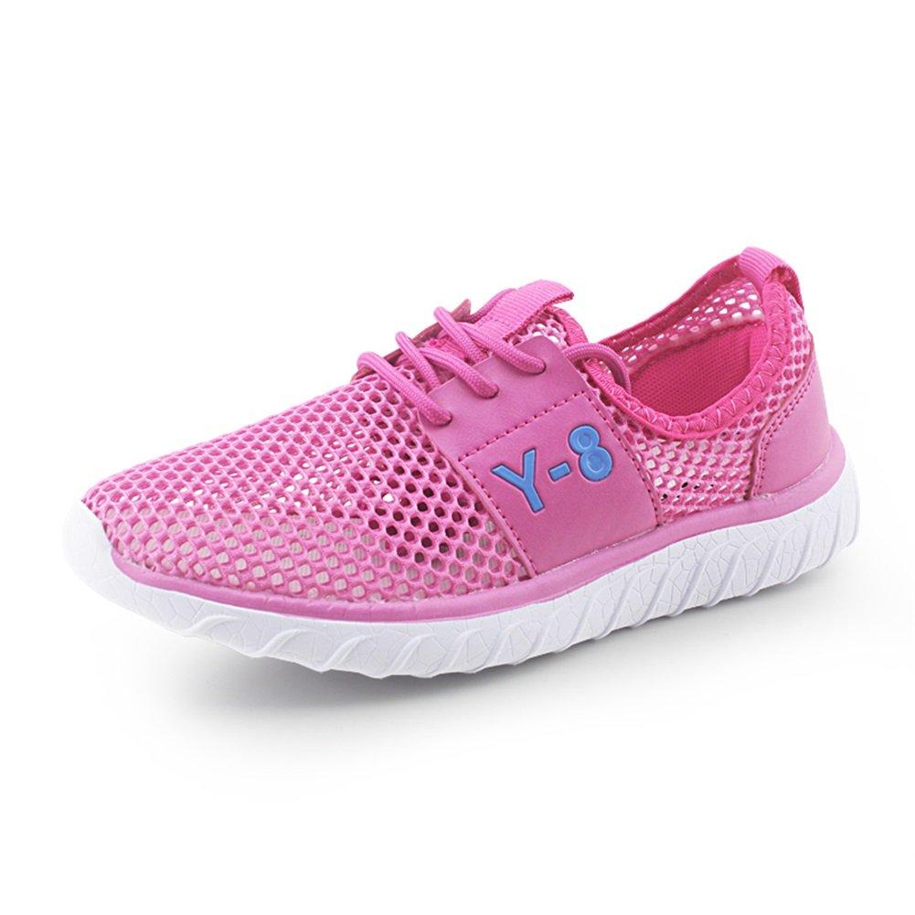 Zapatos de Mujer Tela Primavera Verano Otoño Alpargatas Pisos Zapatos para Caminar Tacón Plano con Cordones Señoras Malla atlética Zapatillas de Deporte Ocasionales (Color : Rojo, Tamaño : 36) 36|Rojo