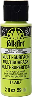 product image for FolkArt Multi-Surface Paint, 2 oz, Happy Green 2 Fl Oz