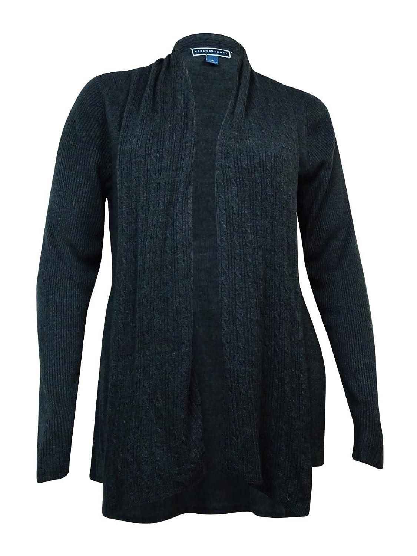 Karen Scott Women's Open Front Cardigan Sweater