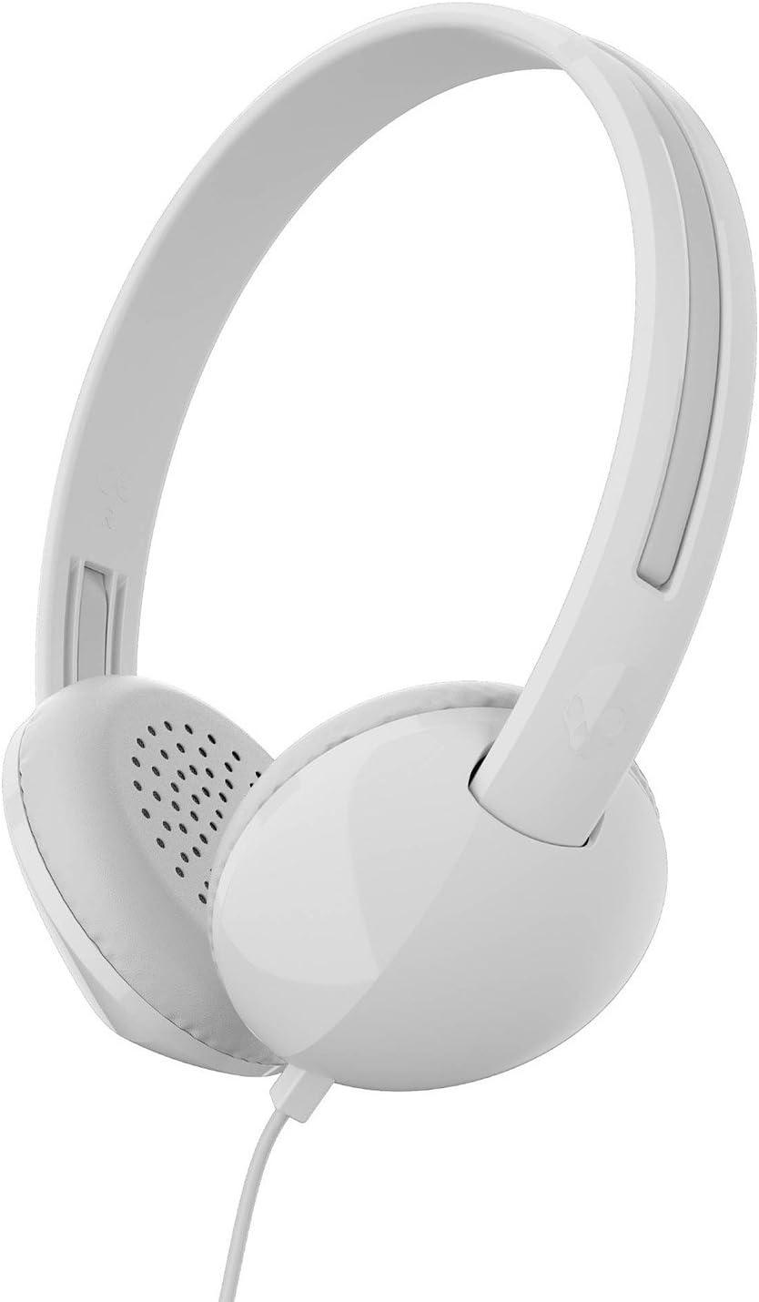 Skullcandy Stim on-Ear Headphone, White/Gray (S2LHY-K568)