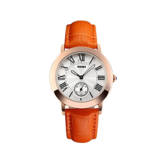 Naranja económica Mujer Relojes Online Mujeres gesch?FTS de cuarzo de aleación cristal nuevo con umbauten de acero inoxidable analógico 35 mm redondas: ...