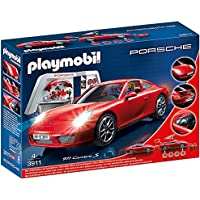 "Playmobil Porche 911 Carrera S"" Car with Lights and Showroom (Multi-Colour)"
