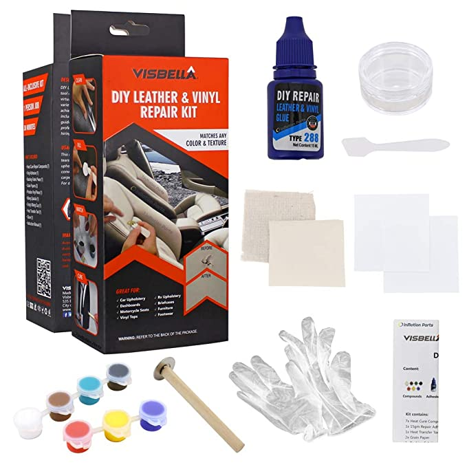 Amazon.com: Visbella DIY Cuero & Vinilo Kit de Reparación ...