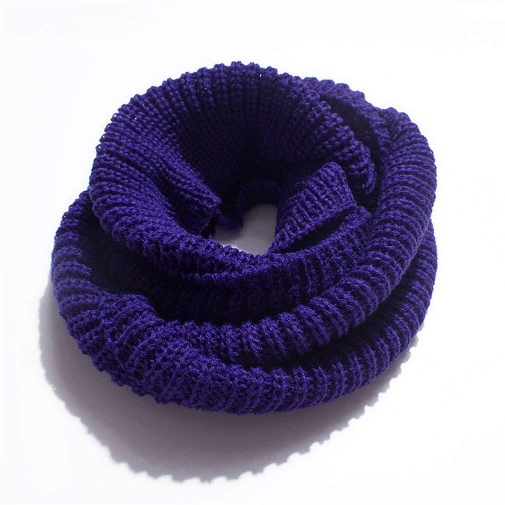 QiXuan Womens Soft Thick Knit Scarf Winter Warm Infinity Circle Loop Scarf Purple (55x2)X30CM