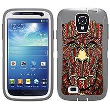 Skin Decal for Otterbox Defender Samsung Galaxy S4 Case - Aztec Monkey Head Orange