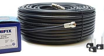 Bajera Ajustable para RG6 Kit de extensión de cable coaxial de TV vía satélite con conectores