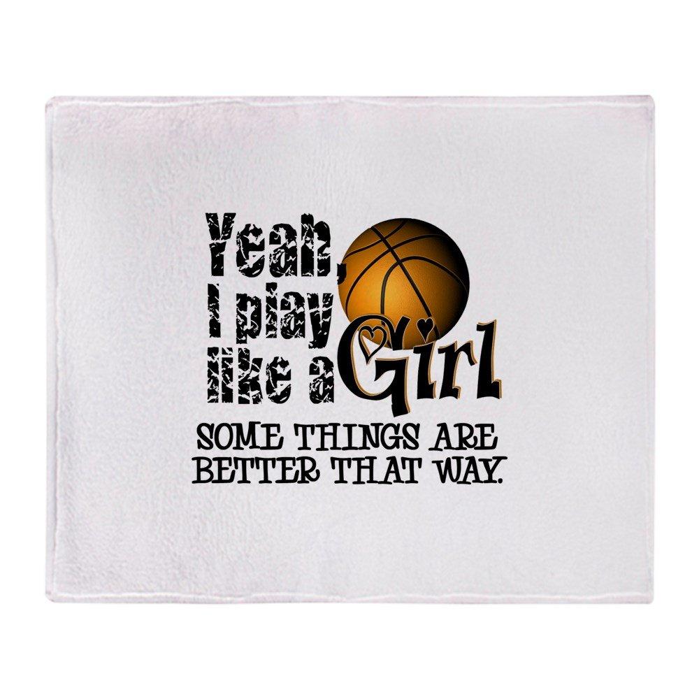 CafePress - Play Like A Girl - Basketball - Soft Fleece Throw Blanket, 50''x60'' Stadium Blanket