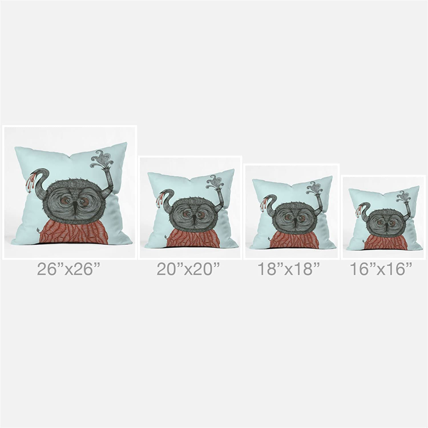 18 x 18 13819-thpo18 Deny Designs Duane Hosein The Incredibly Wise And Wired Colonel T Throw Pillow