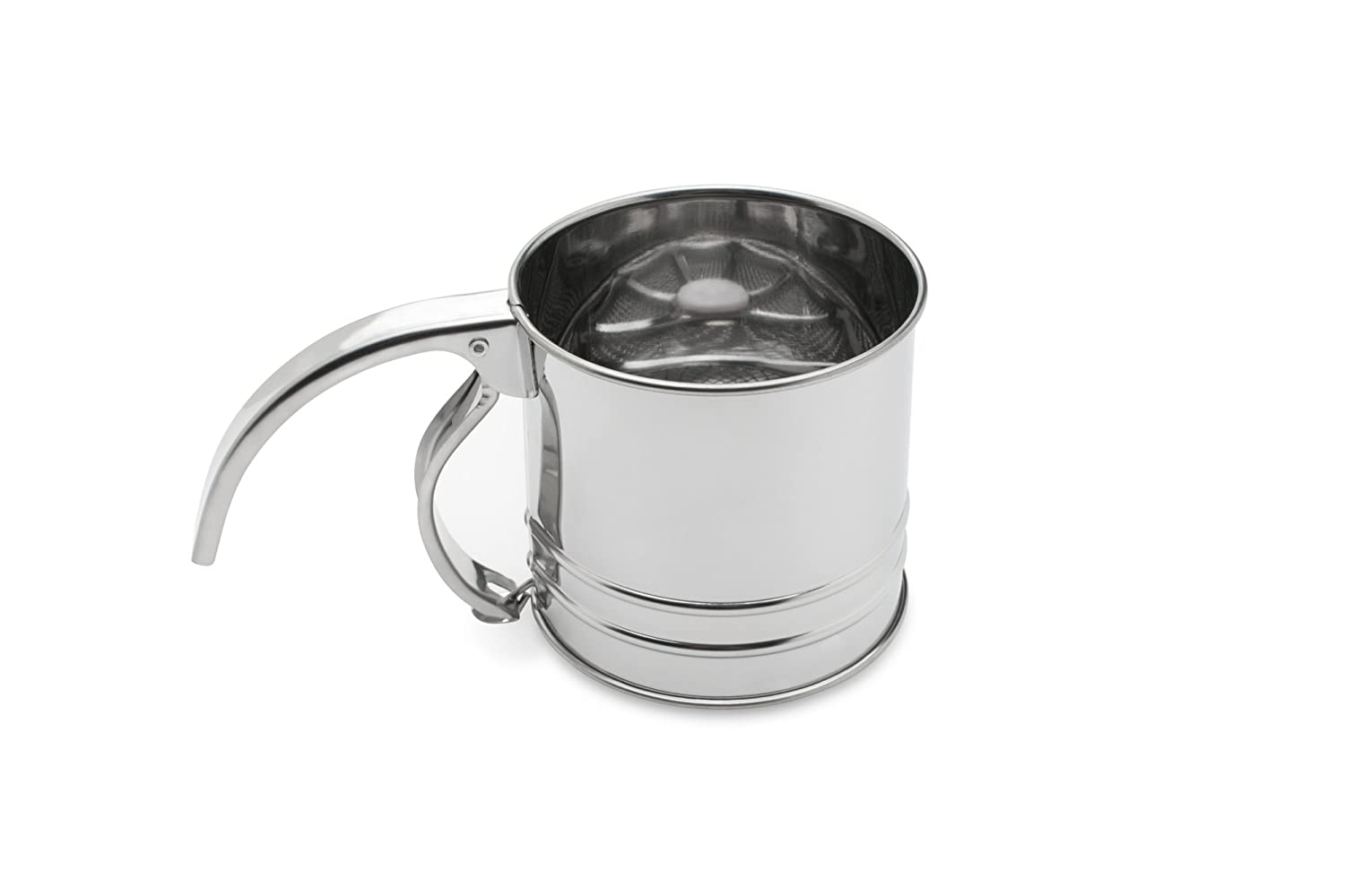 Fox Run 4652 Flour Sifter, Stainless Steel, 1-Cup
