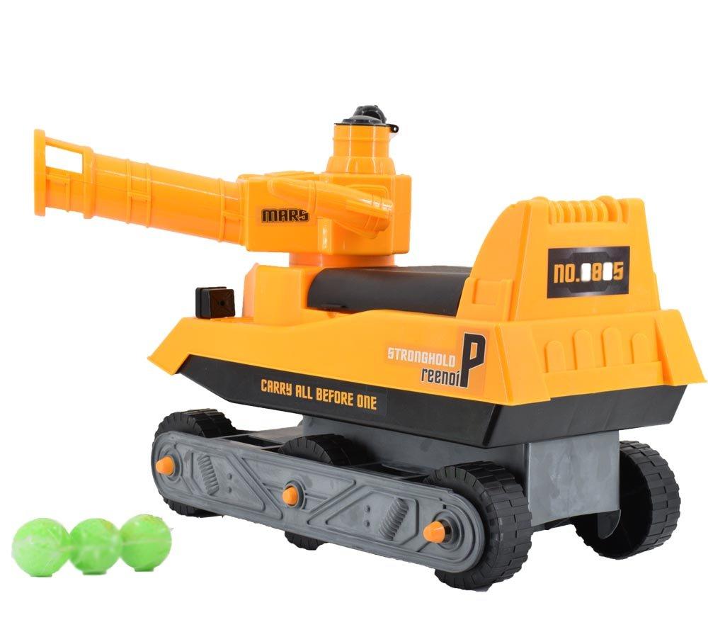 deAO Tanque Corre Pasillos - Tanque con Cañón Manual Incluye 3 Bolas de Plástico - Andador de Equilibrio: Amazon.es: Juguetes y juegos