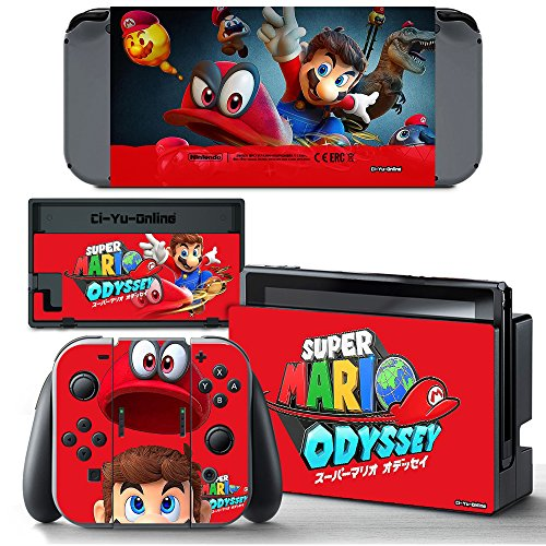 Ci Yu Online Vinyl Skin  Ns  Super Mario Odyssey Red Sticker Decal Cover For Nintendo Switch Console And Joy Con Controllers