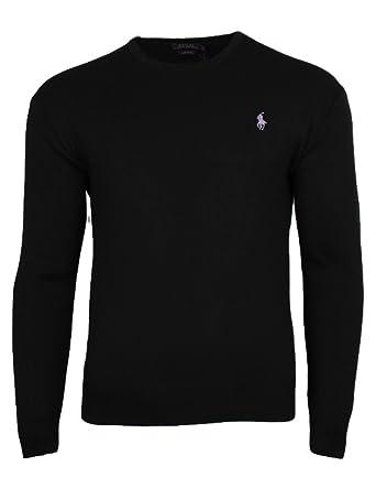 Polo Ralph Lauren Herren Pullover Pima Cotton rundhals schwarz (S ... e3142364f5
