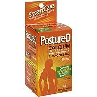 Posture D Calcium with Vitamin D & Magnesium, 600 mg, Caplets, 60 ct (Pack of 3)