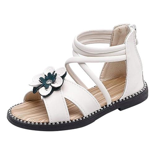 Les Des Simples Cool Fermeture Pour Filles Glissière De L'arrière Sandales ❤️ Sport Hliyy Fleurs Enfants Chaussures À PuOkXiZ