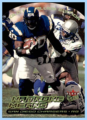 2000 Ultra Gold Medallion #157 Natrone Means SAN DIEGO CHARGERS NORTH CAROLINA TAR HEELS]()