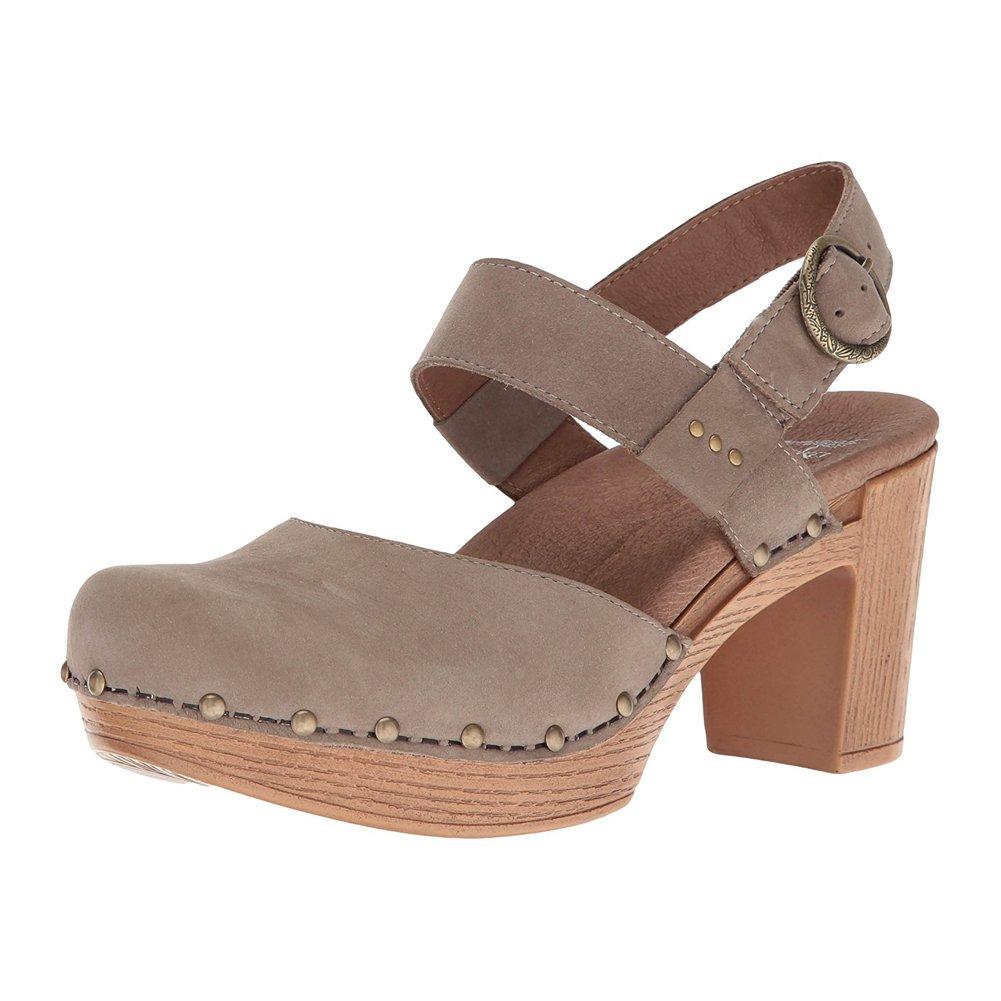 Dansko Women's Dotty Heeled Sandal, Taupe Milled Nubuck, 38 EU/7.5-8 M US by Dansko
