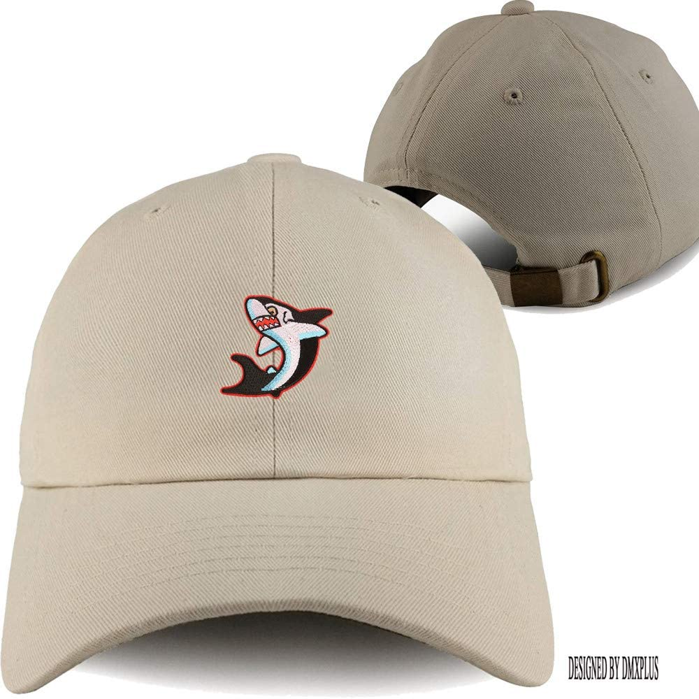 Weytff Unisex Baseball Cap Summer Snapback Leaping Great White Shark Khaki Embroidery Vintage Polo Dad Hat for Youth Boy Girl