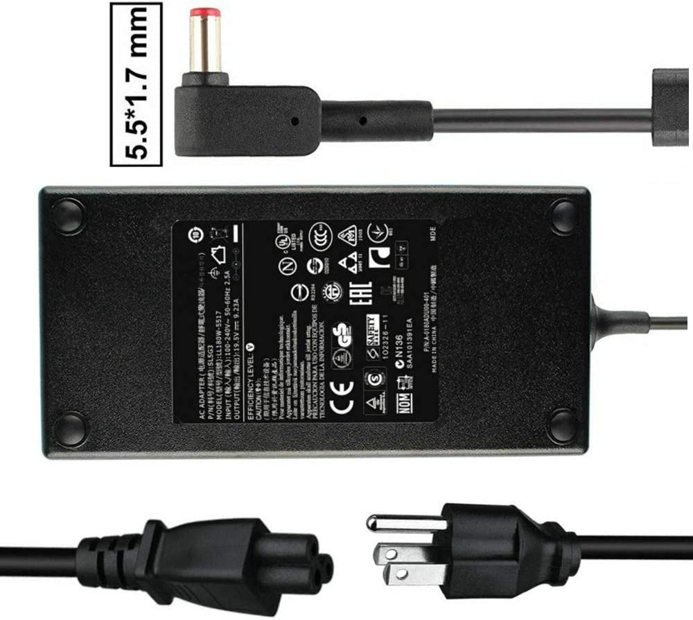AC Adapter 180W for Acer Predator Helios 300 PH317 PH317-51 G3-571 G3-572 Aspire V Nitro 15 VN7-593G 17 VN7-793G A717-71G ADP-180MB Charger Laptop Power Cable Supply
