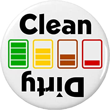 Amazon Clean Dirty Battery Charging Symbol 225 Magnet