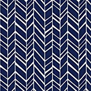 Lounger Cover - Navy Herringbone