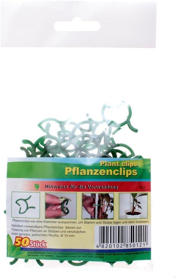 30 x PLANZENCLIPS PFLANZENHALTER PFLANZEN CLIP KLAMMER FIXIERUNG SCHNELLVERSAND