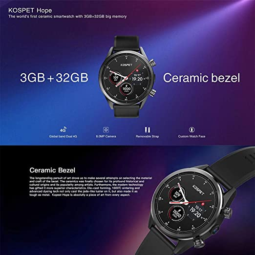 FOONEE Kospet Hope 4G SmartWatch Phone 1.39 AMOLED IP67 ...