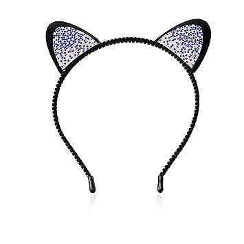 Amazon.com: Niñas diadema de orejas de gato de las mujeres ...