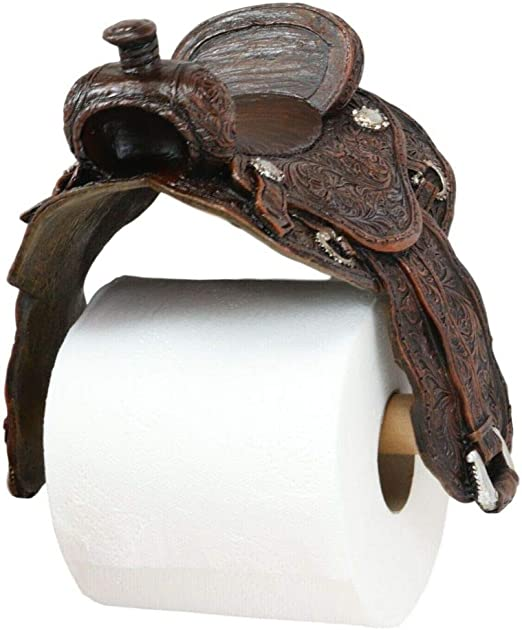 NEW Cowboy Boots Bathroom Toilet Bowel Paper Holder Rustic Western Cabin Decor