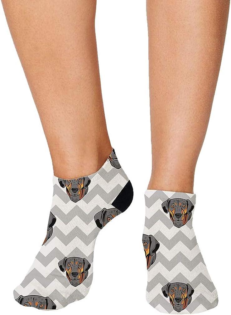 Catahoula Cur Dog Gray Zigzag Pattern Men-Women Adult Ankle Socks