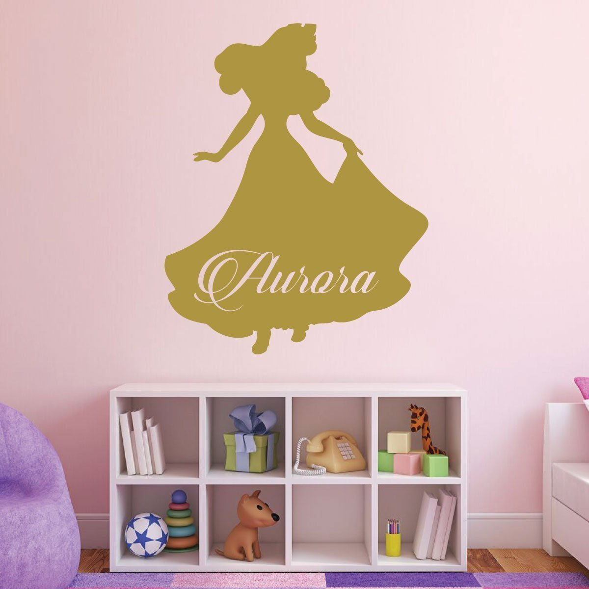 Amazon.com: Aurora - Personalized, Disney Princess Vinyl Wall ...