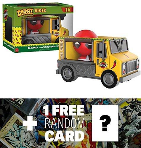 Deadpool W  Chimichanga Truck  Funko Dorbz Ridez X Deadpool Mini Vinyl Figure   1 Free Official Marvel Trading Card Bundle  113045