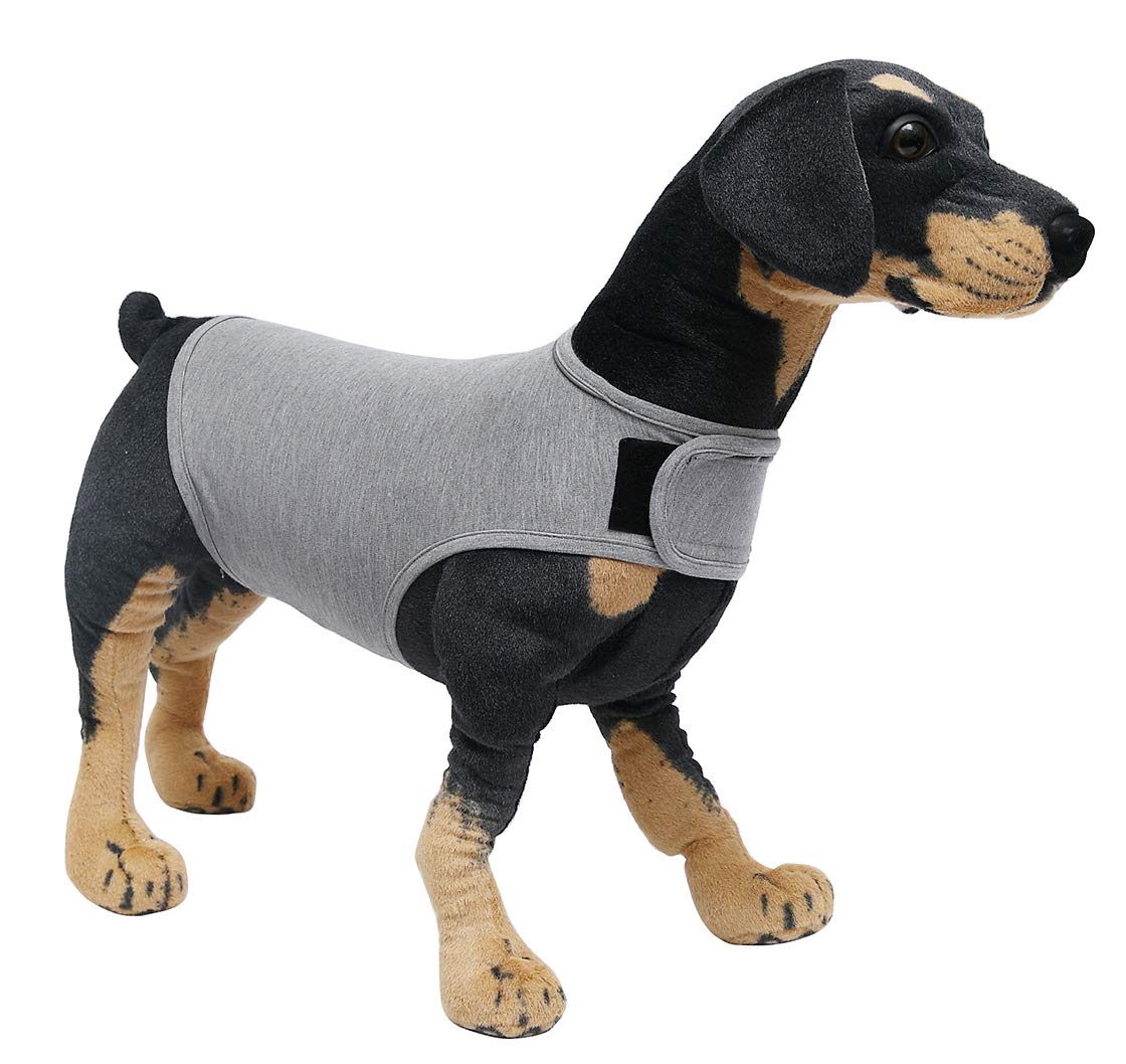 Pethiy Calming Vests for Dogs for Thunder and Anxiet,for XS Small Medium Large XL Dogs GRAY-XS