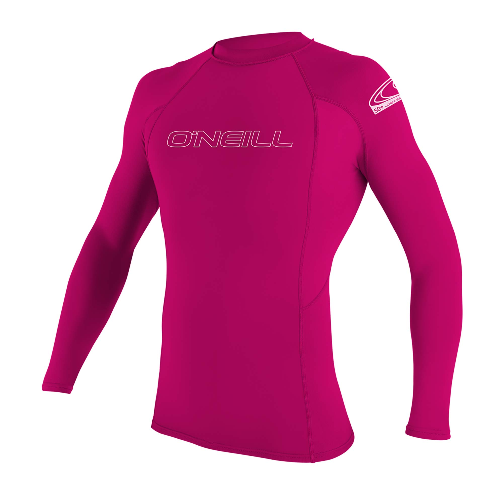 O'Neill Youth Basic Skins UPF 50+ Long Sleeve Rash Guard, Watermelon, 8 by O'Neill Wetsuits