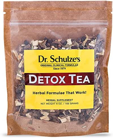 Dr. Schulze's | Detox Tea | All Purpose Herbal Tonic | Powerful Digestive Stimulant | Dietary Supplement | Ultimate Liver Cleanse | Eliminates Gas & Indigestion | Release Toxins | 6 Oz. Pack