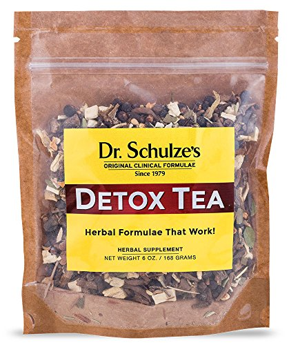 Dr. Schulze's Herbal Detox Tea Supplement – 6 Ounce; Ultimate Detox Digestion Solution and Liver Cleanse 6 Ounce Thistle