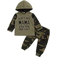 Baby Boy Clothes - Sudadera con Capucha Estampada Lady Killer Top de Manga Larga y Conjunto de Trajes de Pantalones de…