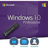 Windows 10 Pro 32 bit & 64 bit Bootable USB-Stick von Badge Art - Original Lizenzschlüssel