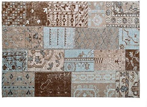 Vintage Teppich Alfombra, Algodón, Gris/Beige, 140 x 200 cm ...