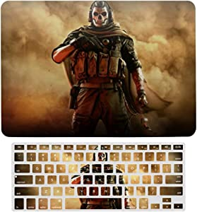 """2 in 1 Laptop Case for Apple MacBook Air 13"""" w A1466/A1369 Rubberized Hard Shell Case Cover & Keyboard Cover(Ghost Soldier)"""