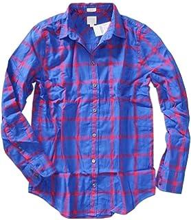 28b5899b937b5e J. Crew Factory - Women's Plaid Patterned Flannel Shirt at Amazon ...