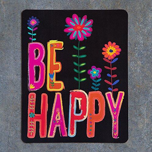 Natural Life Car Magnet Floral Be Happy