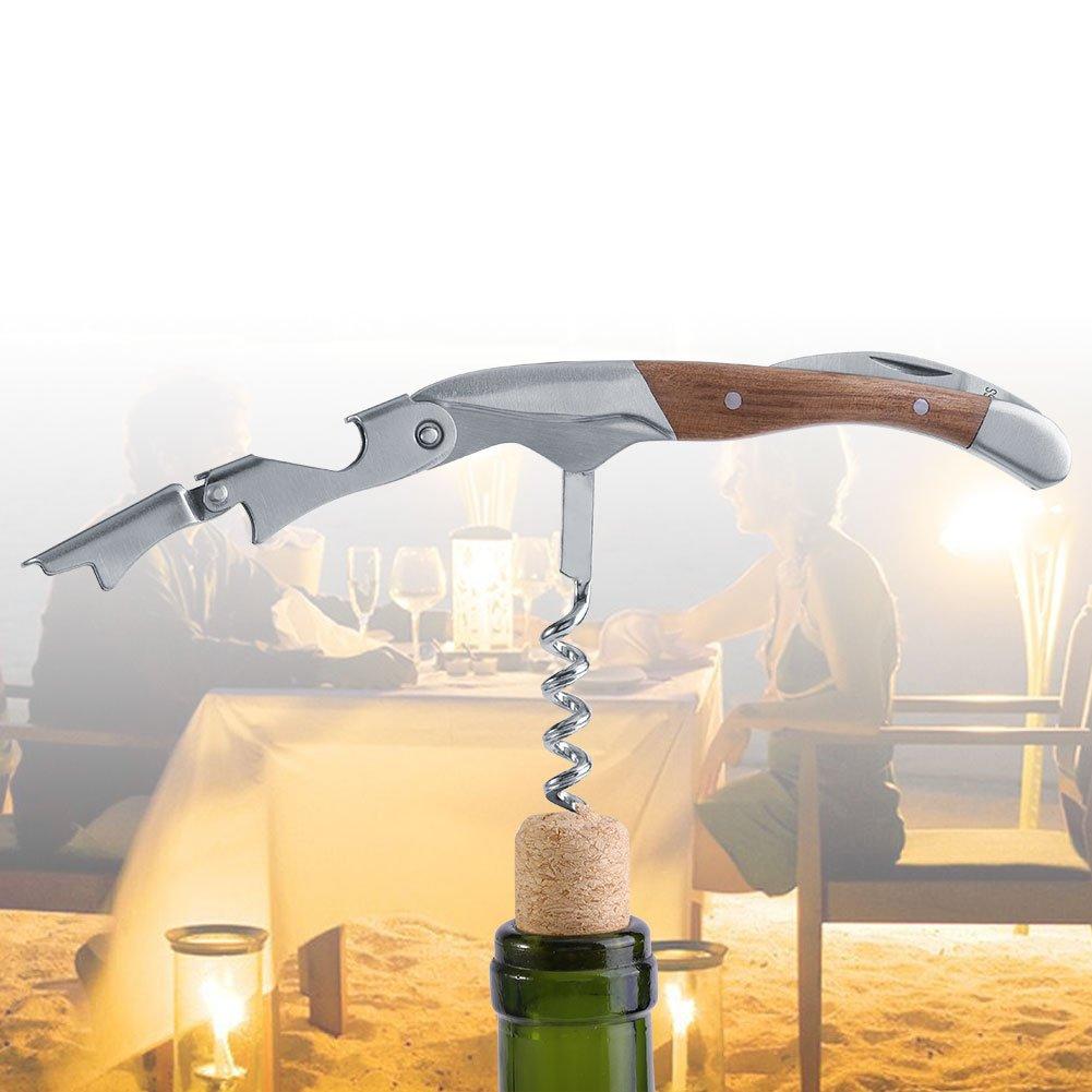 Wine Opener Deluxe Bottle Opener Corkscrew Handheld Labor-saving Wooden Multifunctional Tool Accessories for Home Bar Club Party