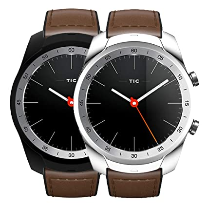 Compatible with Ticwatch Pro Watch Case, Slim Ultra Light TPU Protective Case Bumper Shell Cover for Ticwatch Pro Smartwatch (Black+Silver)