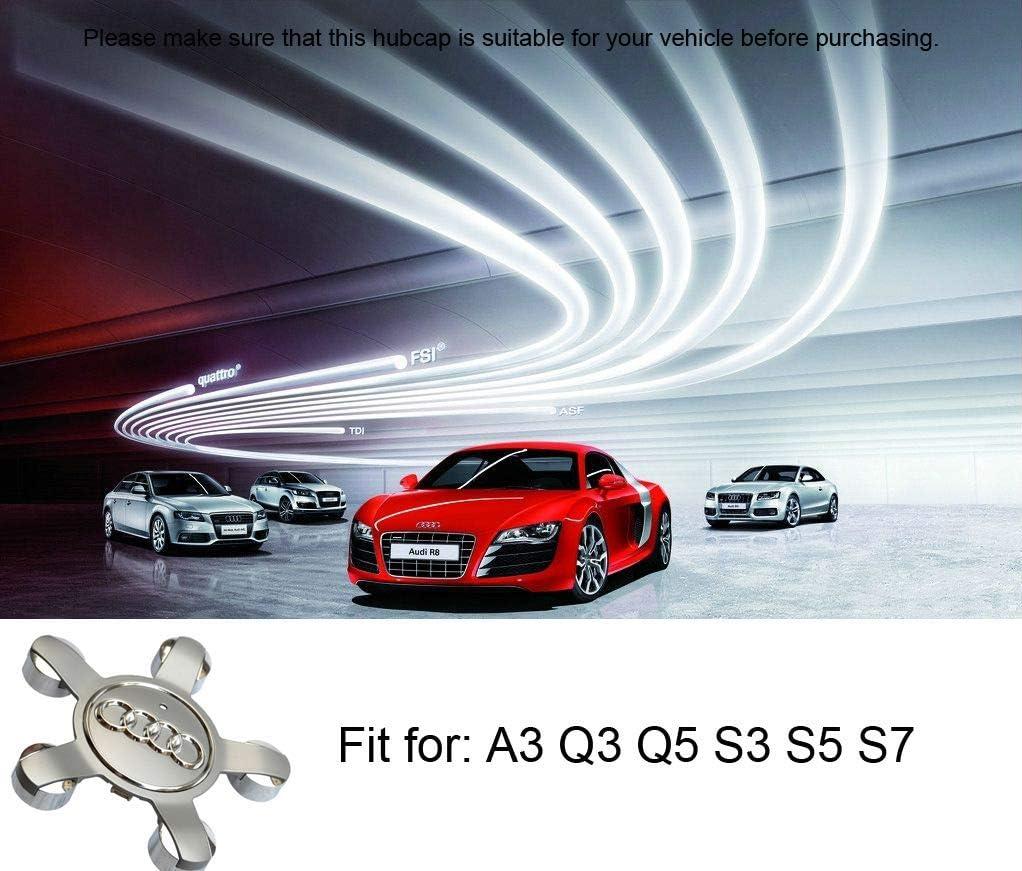 99 Carpro 4 Pcs Car Wheel Center Caps with Audi Logo Silver Wheel ...